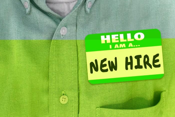 Onboarding new hire onboard start job
