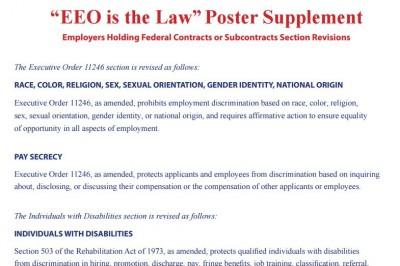 EEO is Law supplement