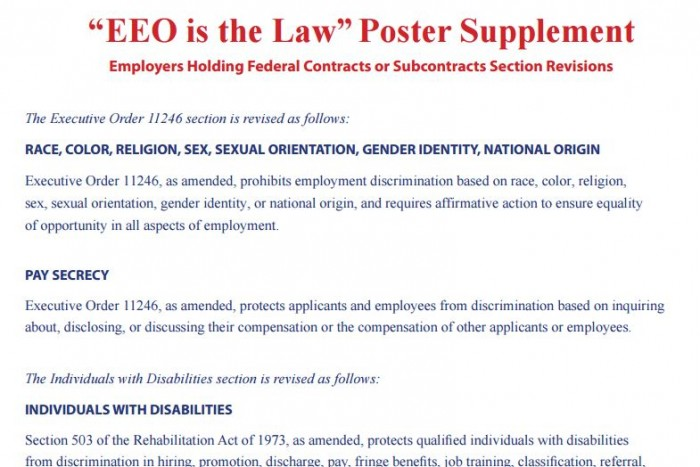 EEO is Law supplement
