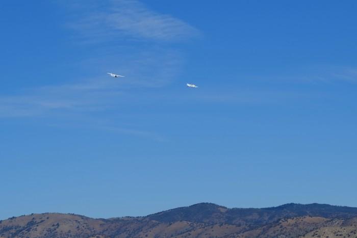 airplane gliding