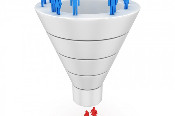 Candidate recruiting funnel
