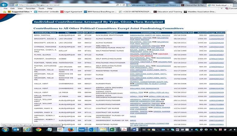 FEC names list