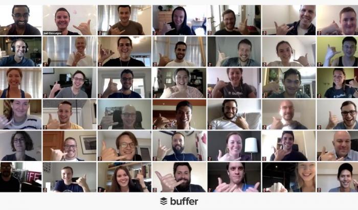 Buffer virtual meeting