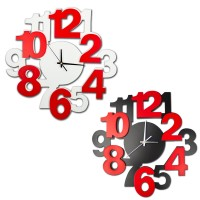 Designer Numbers Wall Clock