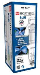 Hortilux Blue 600 Watt Metal Halide Bulb - Horizontal