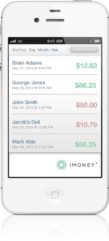 iMoney screenshot expense tracking tool