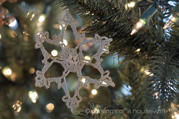 crocheted snowflake ornament