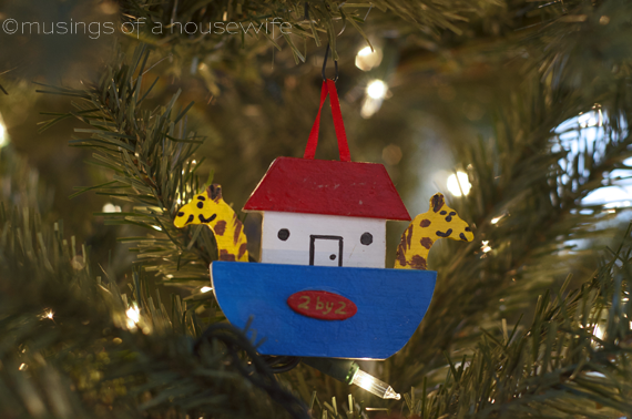homemade noah's ark ornament
