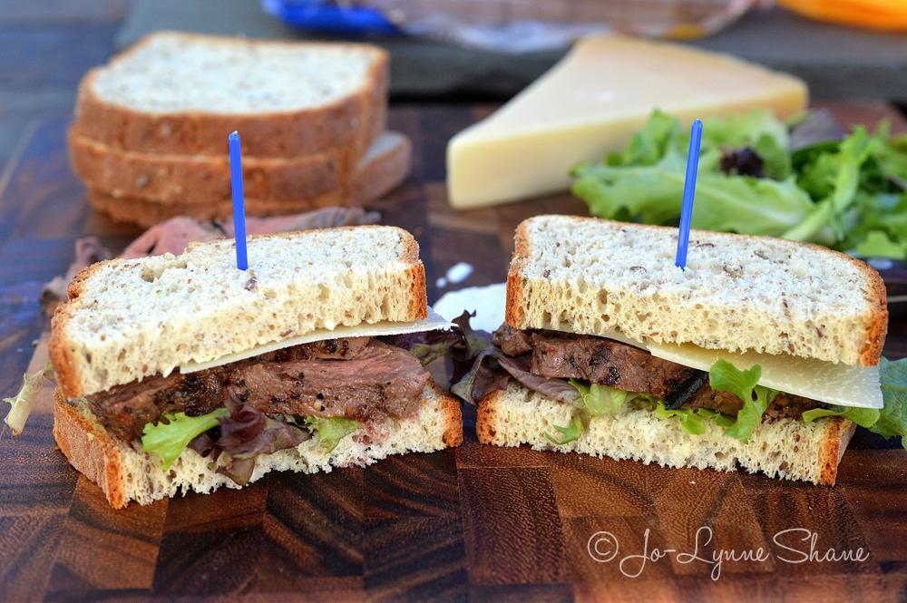 Beef Tenderloin Sandwich with Horseradish Cream on Udi's Gluten-Free Bread