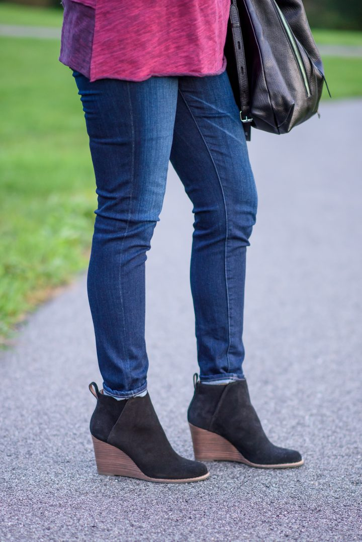 Lucky Yezzah Ankle Boots with AG Ankle Super Skinny Jeans