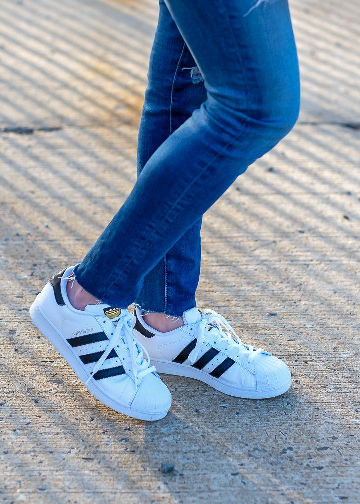 Adidas Superstars + AG Legging Ankle Jeans