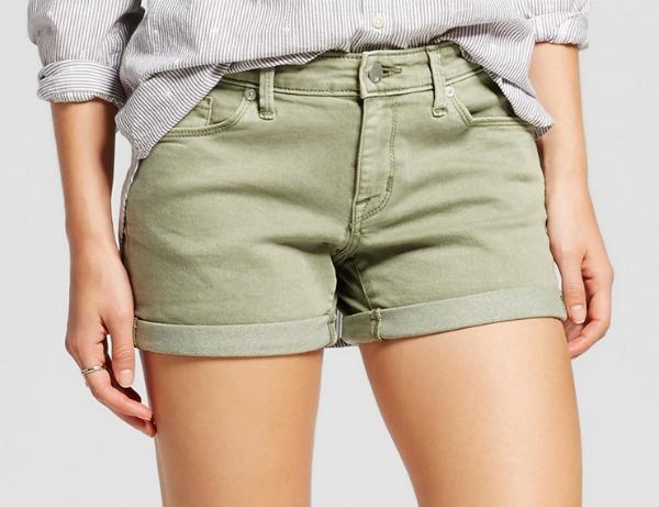 Mossimo Mid Rise Midi Shorts