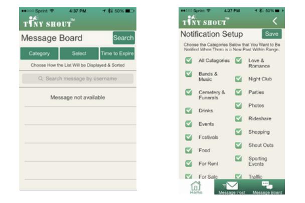 TinyShout Messaging App