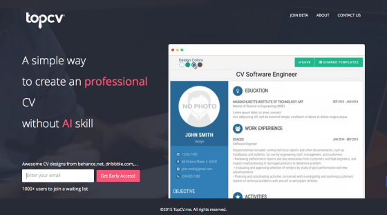 Create professional cv, resumes online for free with more awesome templates from behance, dribble