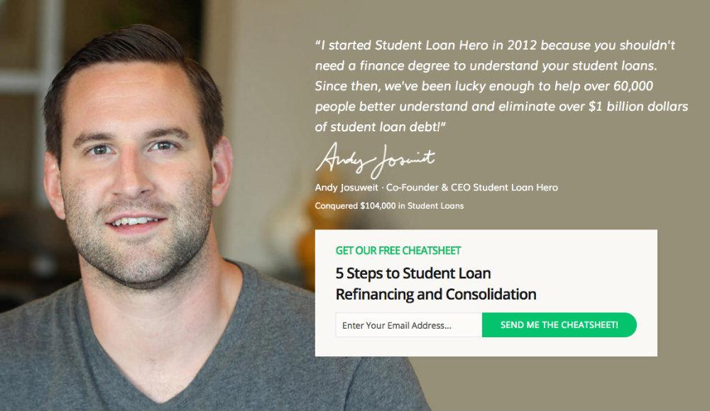 student loan hero landing