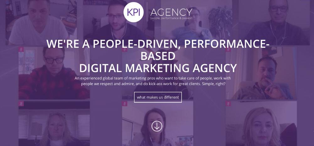 KPI Agency landing