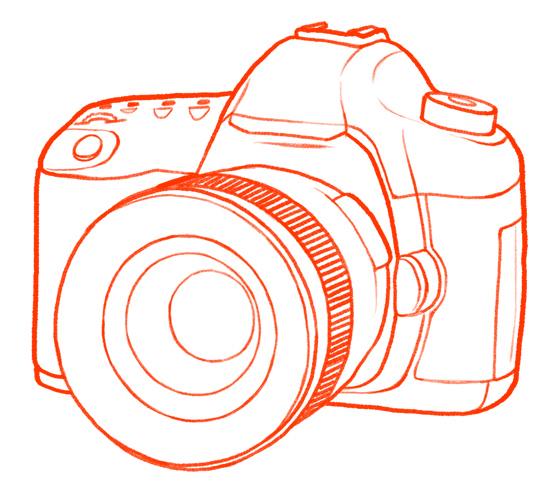 Line Drawing Camera : Canon camera line drawing i currently use a d