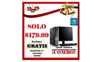DELL 390 250gb-4gb Ram $179.99 CON TODO!!!