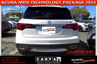 ACURA MDX TECHNOLOGY PACKAGE 3 FILAS DE ASIENTOS 2015