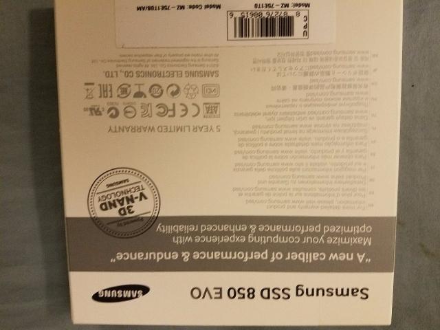 Samsung 850EVO 1TB SATA3-Back