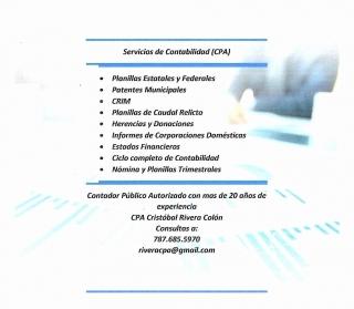 Servicios de Contabilidad (CPA)