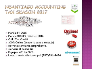 Planillas 2016 - NSantiago Accounting (787) 296-4494