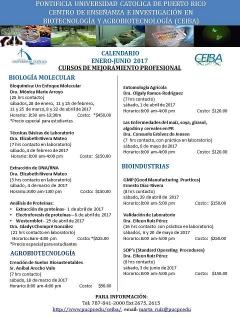 Calendario de cursos cortos enero-junio 2017