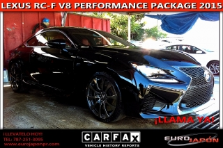 LEXUS RC-F V8 PERFORMANCE PACKAGE 2015
