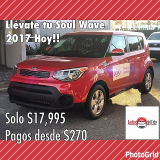 Kia Soul Wave 2017 solo $17,995
