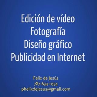 Edición de vídeo - Fotografía - Diseño gráfico