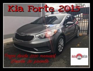 KIA FORTE 2015 CON PAGO DE BICICLETA