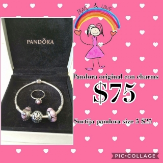 Pulsera Pandora original con charms