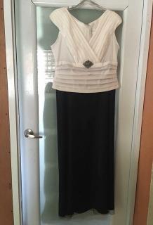 Vestido elegante blanco y negro size 16