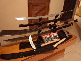 Lote de armas japonesas