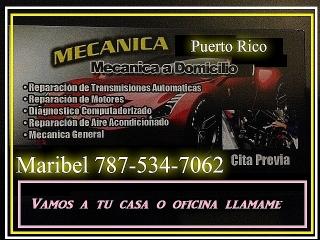 MECANICA A TU CASA 787-534-7062 MARIBEL