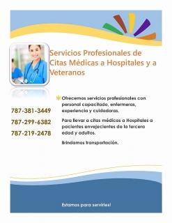 Servicios Profesionales de Citas Médicas a Hospitales y a Veteranos
