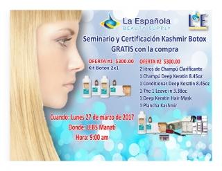 Seminario y Certificación Botox Kashmir