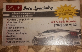 L & N AUTO SPECIALTY