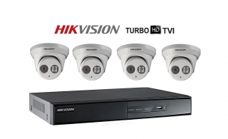 Camaras Hikvision Turbo HD y Alarma Honeywell