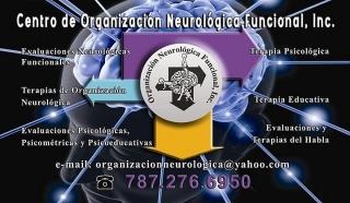 CENTRO DE ORGANIZACIÓN NEUROLÓGICA FUNCIONAL