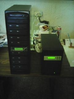 2 Duplicadoras Digitales Torres de DVD y CD