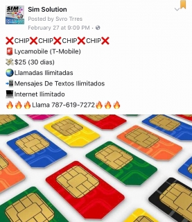 Sim Card T-Mobile (chip)