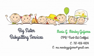 Big Sister Babysitting Services