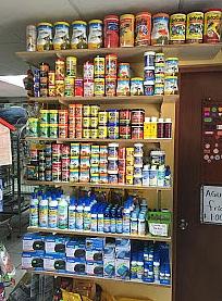 Variedad de comida para peces