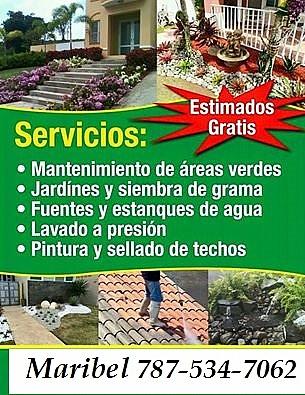 Reparamos equipo de jardineria llamame en guayama for Servicio de jardineria