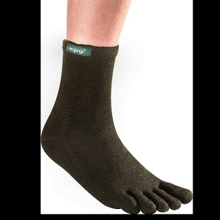 Injinji Outdoor Series Original Weight Toesock( length: Crew; colors: Forest, Slate)