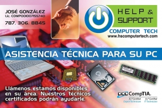 Reparación de Computadoras, Ayuda y Soporte a sus usuarios por técnicos Certificados. Llame ahora al 787.306.8845