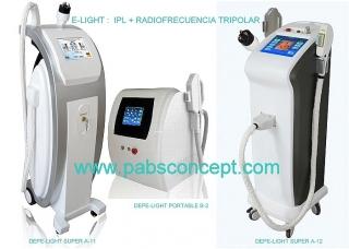 Equipos para depilacion definitiva-LUZ PULSADA INTENSA (IPL) + RADIO FRECUENCIA TRIPOLAR