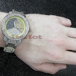 Super Techno Mens Diamond Multicolor Watch 0.76ct