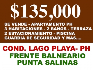 $135,000- Cond. Lago Playa (PH)- 3H-2B-2P